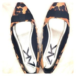 Anne Klein Sport Leopard Print Pointed Toe Flats